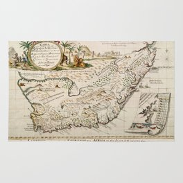 Map Of South Africa 1793 Rug