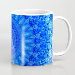 Detailed mandala in blue tones Coffee Mug