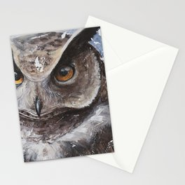 """The Owl - """"Watch-me!"""" - Animal - by LiliFlore Stationery Cards"""