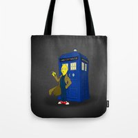 lemongrab Tote Bags featuring Doctor Lemongrab  by MUSENYO