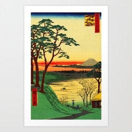 Japanese Tea House on River Art Print