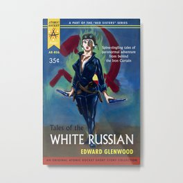 """Tales of the White Russian"" Book Cover Metal Print"