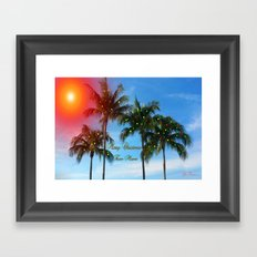 Merry Christmas from Miami Framed Art Print