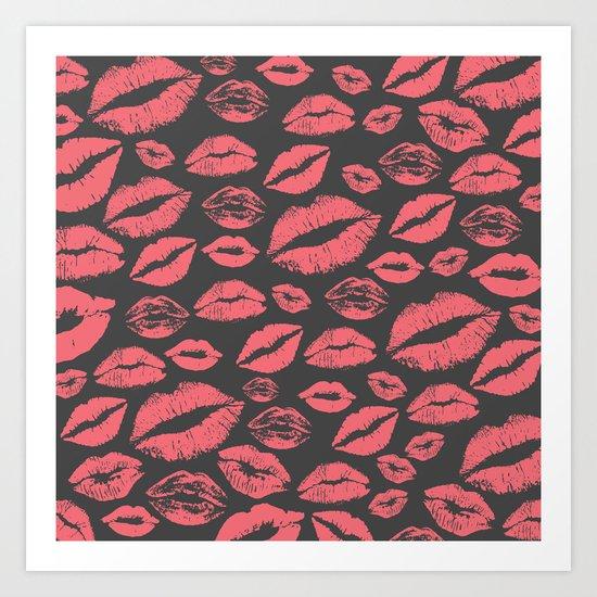 Lips 10 Art Print