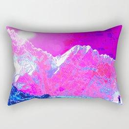 Alpenglow in Violet Rectangular Pillow