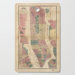 Map of New York and Vicinity (1867) Cutting Board