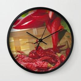 Hot chili pepper for kitchen design Wall Clock