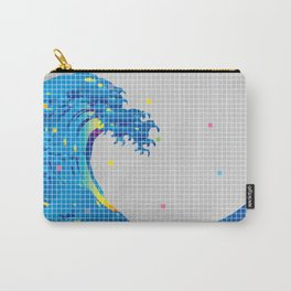 Great Wave in checked pattern_A Carry-All Pouch
