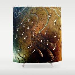 Brass pattern Shower Curtain