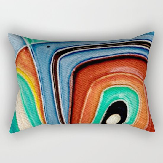 The Kandinsky's Chubby Bird 1 Rectangular Pillow