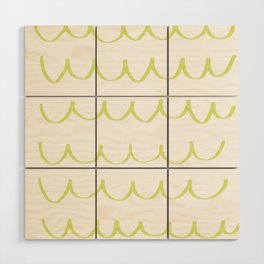 Citron Green Waves Wood Wall Art