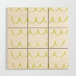Citron Green Waves Wood Wall Art