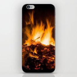 Fire flames iPhone Skin