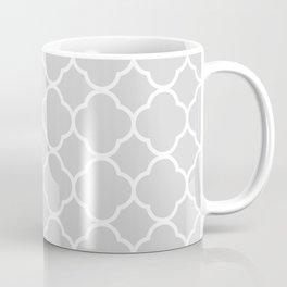 Gray & White Quatrefoil Coffee Mug