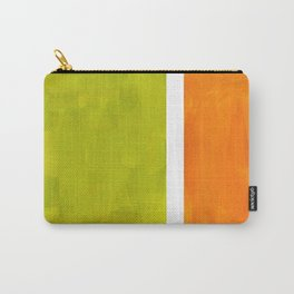 Retro Lime Green Minimalist Abstract Color Block Rothko Midcentury Modern Art Carry-All Pouch