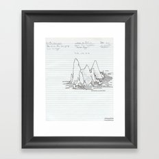Mountain (with lines) Framed Art Print