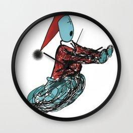 terrified Wall Clock