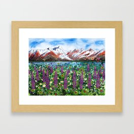 Carpathian in Lupine Framed Art Print