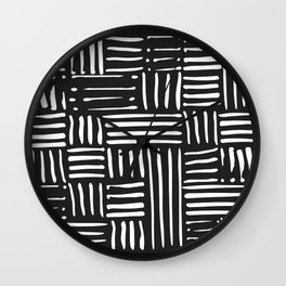Weave in White Wall Clock