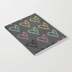 Hearts Hearts Hearts Notebook