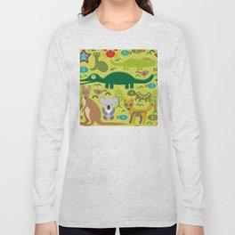 Animals Australia snake, turtle, crocodile, alliagtor, kangaroo, dingo Long Sleeve T-shirt