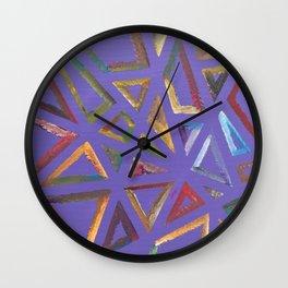 Purple Frames Wall Clock