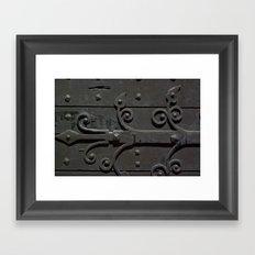 Ancient door Framed Art Print