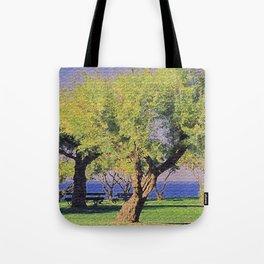 Tamarisk Trees Overlooking the Ocean Tote Bag