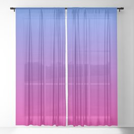 Vibrant Blue, Purple & Pink Gradient Color Sheer Curtain