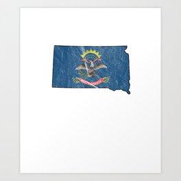 Patriotic North Dakotans Dakota Flag Nationalism USA Art Print