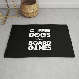 Board Games Addict Coffee Dog Lover Gift Rug