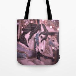 Fantasy horses in pink Tote Bag