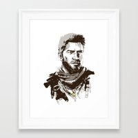 uncharted Framed Art Prints featuring Uncharted 3 by James Brunner