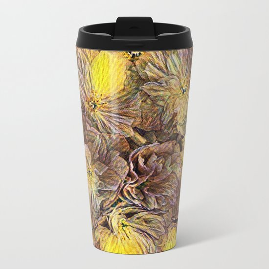 Flowers Galore - Painterly Metal Travel Mug
