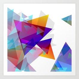 Kaleidoscopic Fragments Art Print