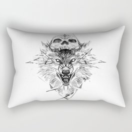 Wolf And Skull Rectangular Pillow