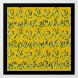 swirlies Art Print