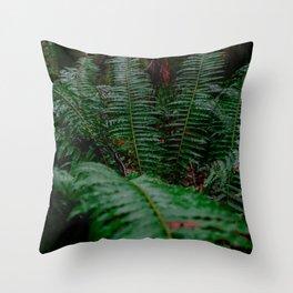 Stanley Park Ferns Throw Pillow