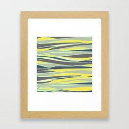 banana, mint and gray stripes  Framed Art Print