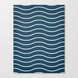 Navy Waves Canvas Print