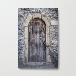 Old French Door Metal Print