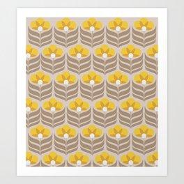 Sunny retro pattern no6 Art Print