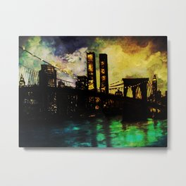 The Twin Towers- In Memory- Never Forget 9-11 New York City Metal Print