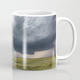 High Risk - Wide Angle View of Tornado in Kansas Coffee Mug