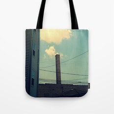 Chicago Clouds and Smokestack Tote Bag