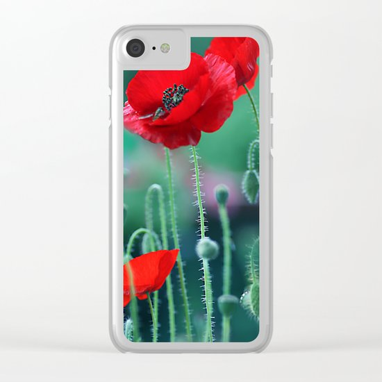 Poppies (light)2. Clear iPhone Case