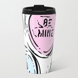 Be Mine Heart Candy in Pastels Travel Mug