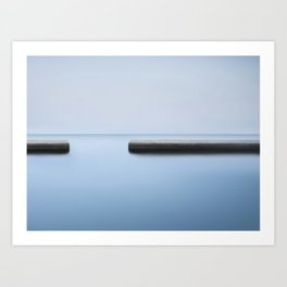 PLATFORM AT SEA, BARCELONA Art Print
