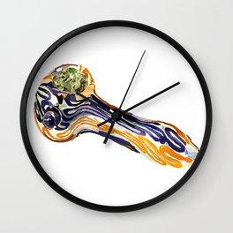 Glass Pipe Wall Clock