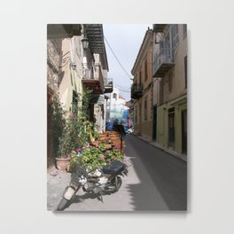 Motor Bike in Nafplio Metal Print